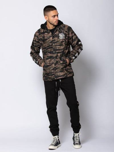 Young and Reckless Mens - Outerwear Outpost Coach Jacket - Tiger Camo