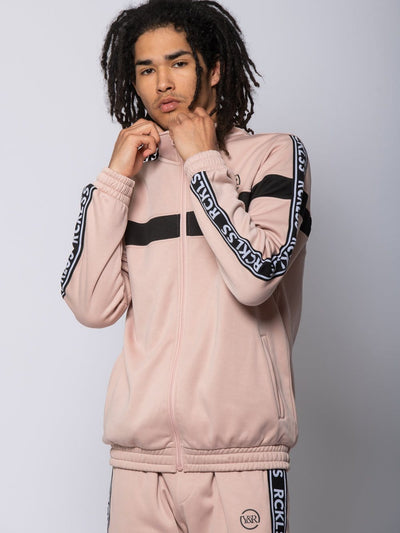Young and Reckless Mens - Outerwear Pursuit Track Jacket - Rose/Black