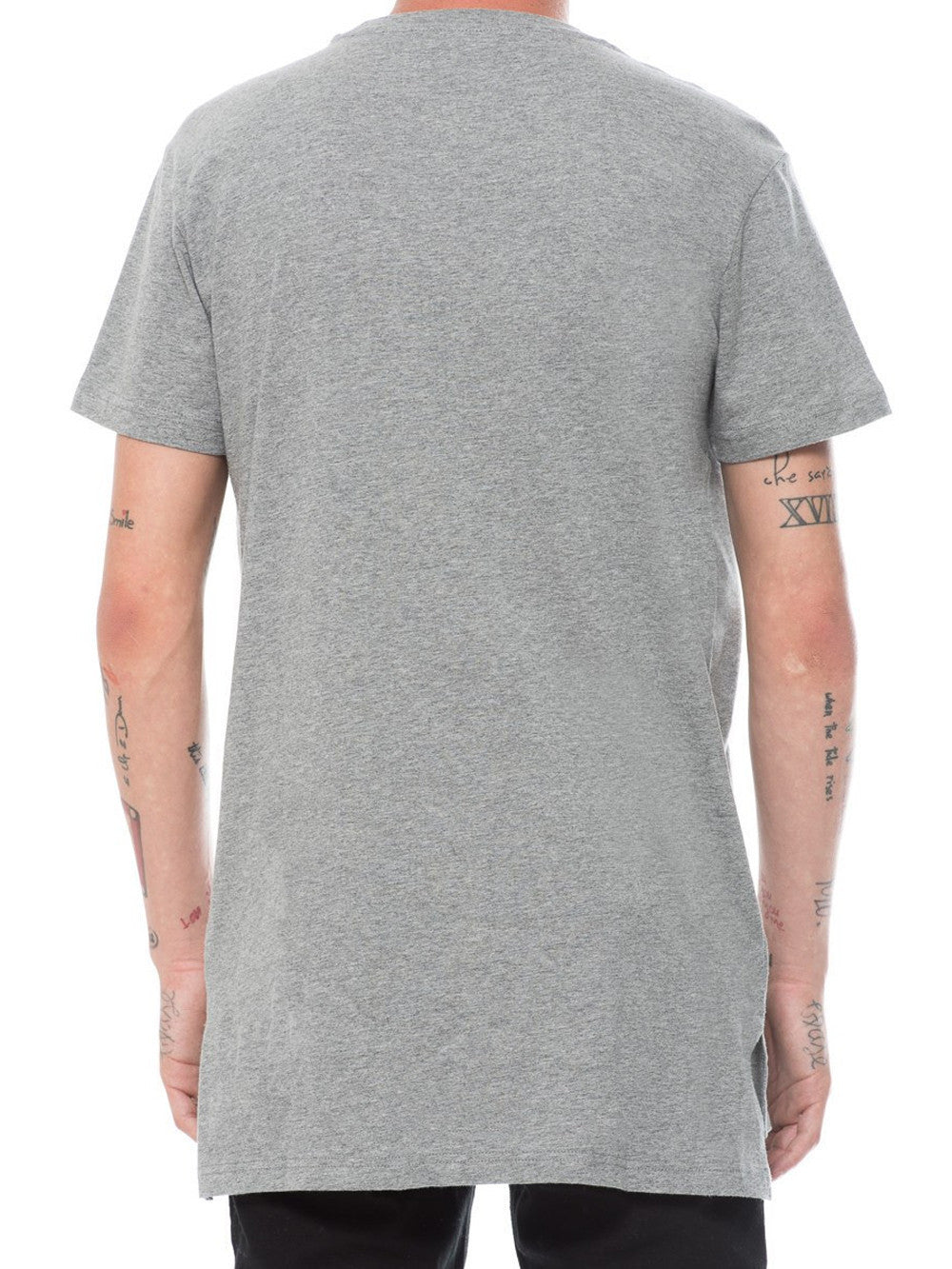 Young and Reckless Mens - Tees - Basic Tee Basic Long Tee - Heather Grey