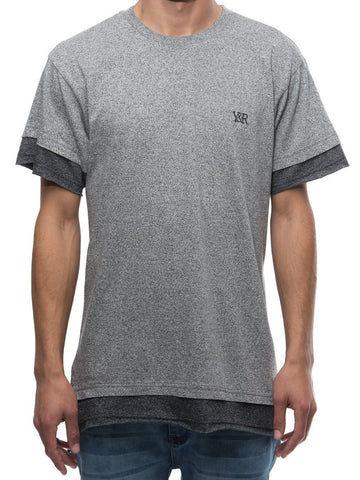 Young and Reckless Mens - Tees - Basic Tee Caleb Long Tee- Grey