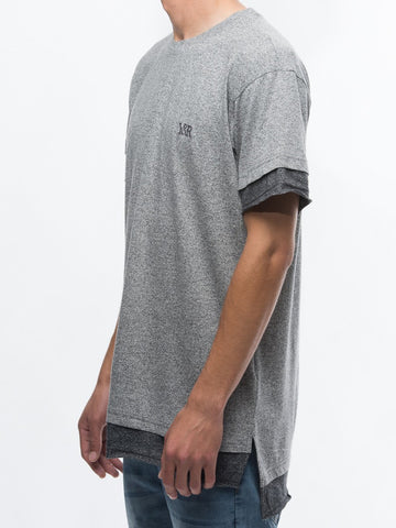 Caleb Long Tee- Grey