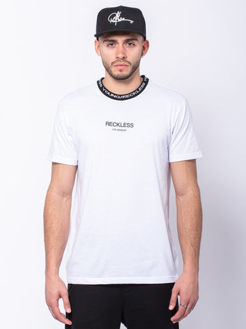 Young and Reckless Mens - Tees - Basic Tee Classic Rib Tee - White