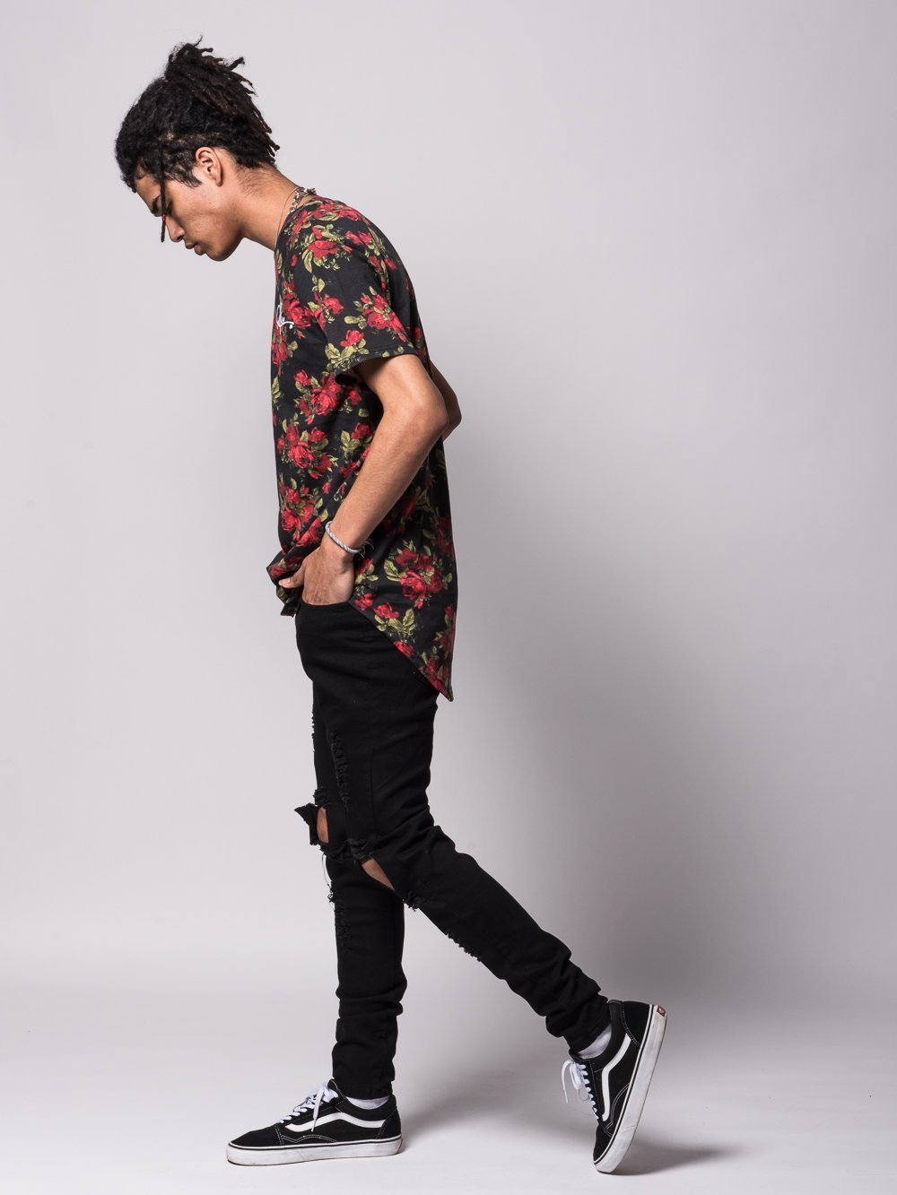 ... Young and Reckless Mens - Tees - Basic Tee Crimson Elongated Tee - Rose  ... 909b799cf