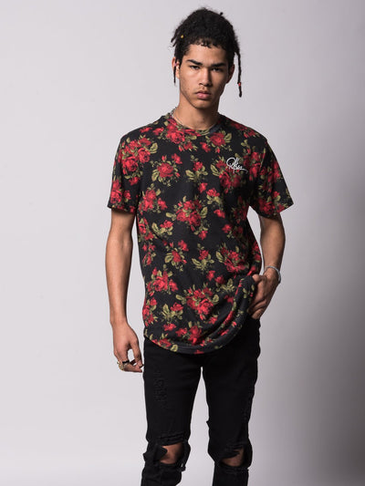 Young and Reckless Mens - Tees - Basic Tee Crimson Elongated Tee - Rose