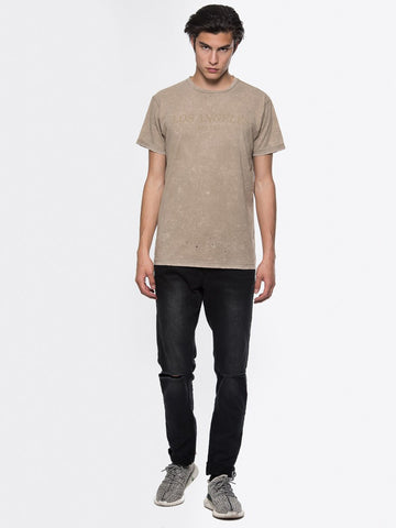 Young and Reckless Mens - Tees - Basic Tee Deadline Tee - Brown