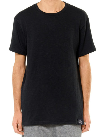 Young and Reckless Mens - Tees - Basic Tee Deconstructed Sweater Tee- Black