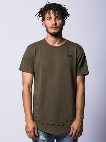 Young and Reckless Mens - Tees - Basic Tee Gustav Tee- Olive