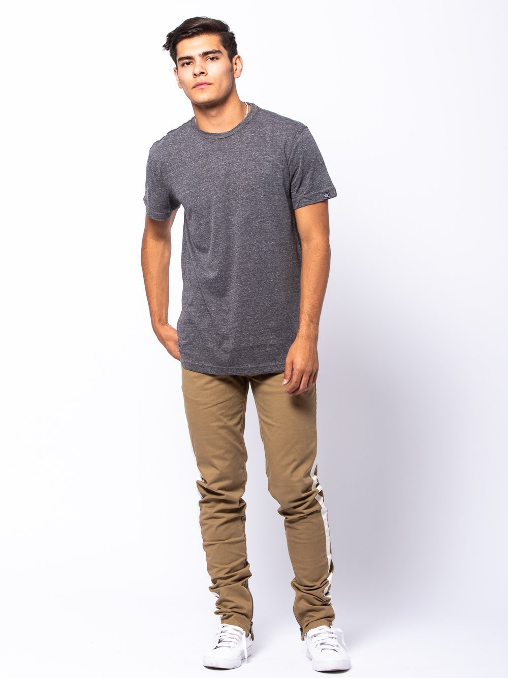 Young and Reckless Mens - Tees - Basic Tee Hamilton Tee - Grey