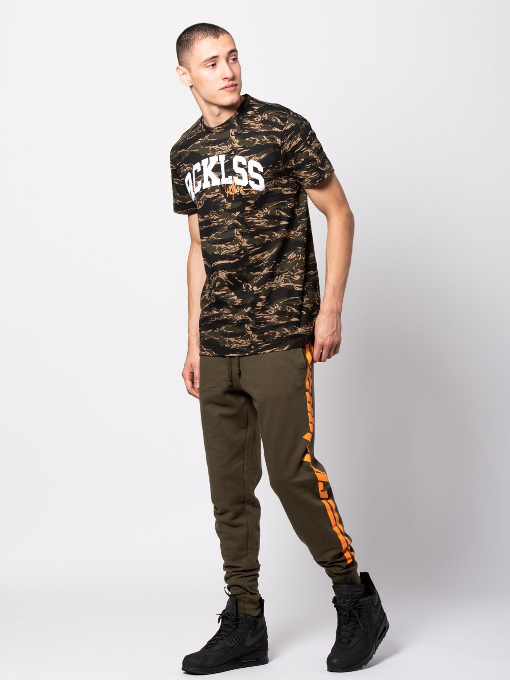 Young and Reckless Mens - Tees - Basic Tee Homecoming Tee - Camo Green