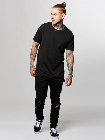 Leandro Long Tee- Black