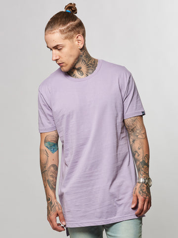 Young and Reckless Mens - Tees - Basic Tee Leandro Long Tee- Dark Lavender