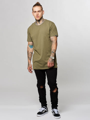 Leandro Long Tee- Olive