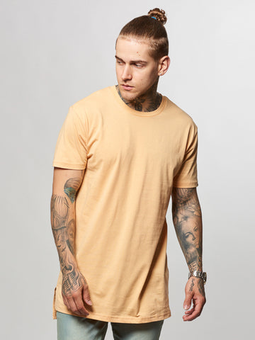 Young and Reckless Mens - Tees - Basic Tee Leandro Long Tee- Peach