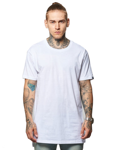 Young and Reckless Mens - Tees - Basic Tee Leandro Long Tee- White