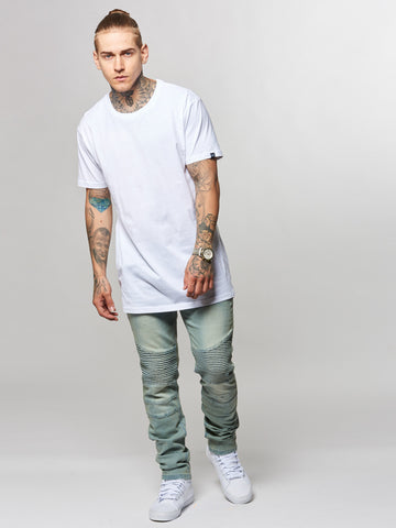 Leandro Long Tee- White