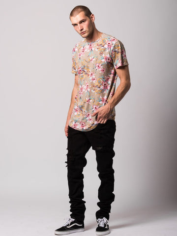 Monstruo Elongated Tee - Multi