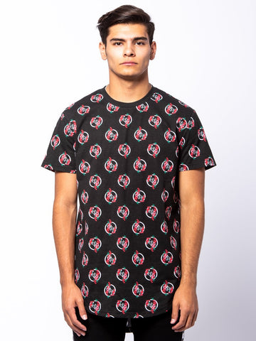 Young and Reckless Mens - Tees - Basic Tee Oasis Long Tee - Black/Red