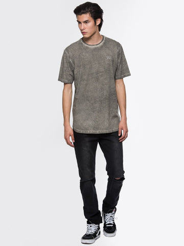 Slick Elongated Tee - Grey