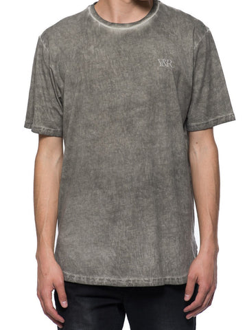 Young and Reckless Mens - Tees - Basic Tee Slick Elongated Tee - Grey