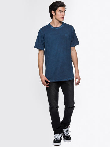 Slick Elongated Tee - Navy