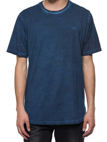 Young and Reckless Mens - Tees - Basic Tee Slick Elongated Tee - Navy
