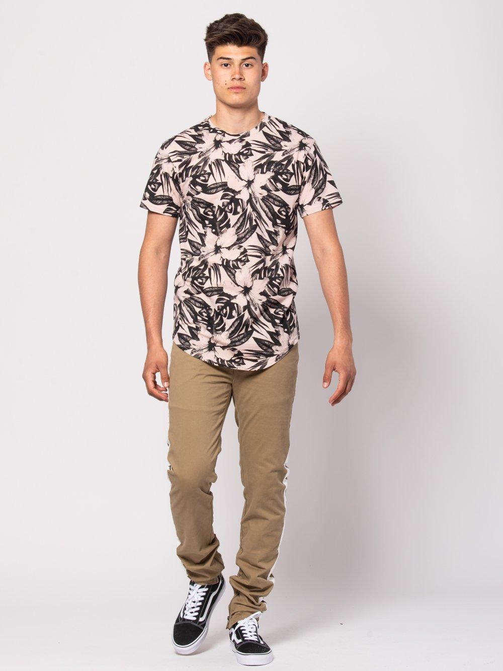 Young and Reckless Mens - Tees - Basic Tee Topiary Long Tee - Rose