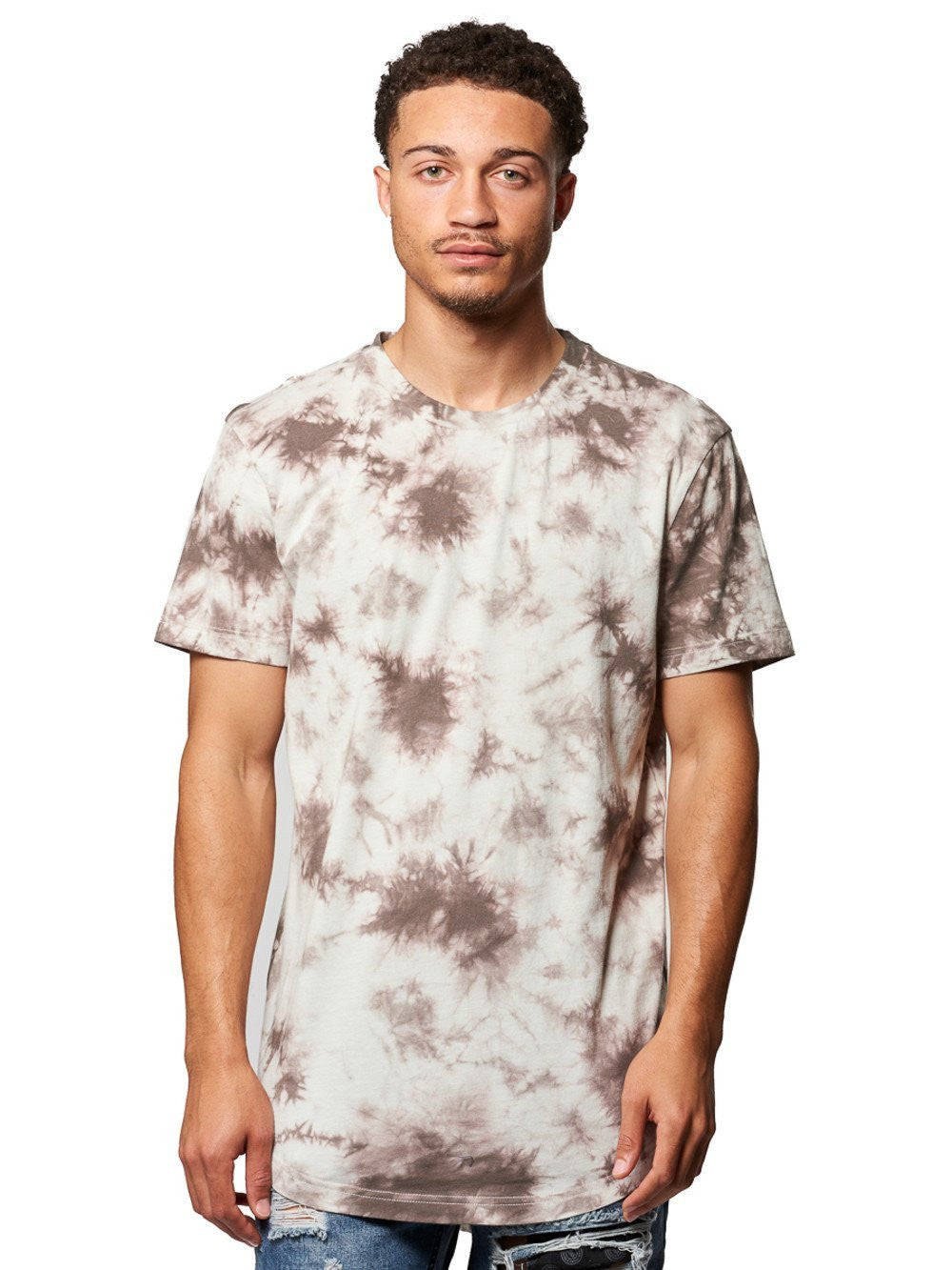 Young and Reckless Mens - Tees - Basic Tee Vince Tee- Grey Tie Dye ... f04f337dbddd