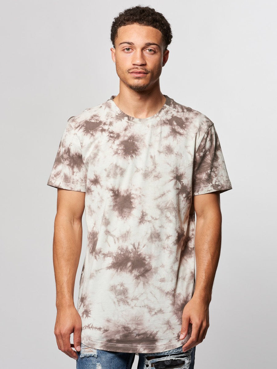 Young and Reckless Mens - Tees - Basic Tee Vince Tee- Grey Tie Dye