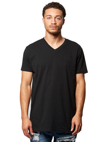 Young and Reckless Mens - Tees - Basic Tee Vincent V-Neck Tee- Black