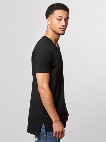 Vincent V-Neck Tee- Black