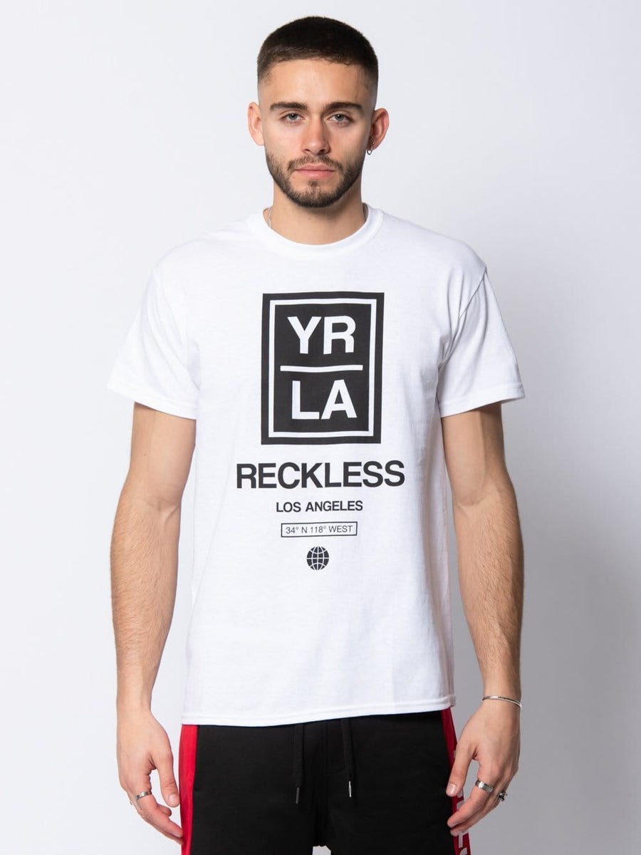 Young and Reckless Mens - Tees - Graphic Tee Angelino Tee - White S / WHITE