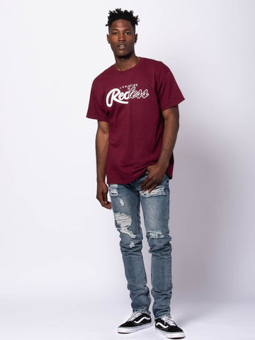 Both Coasts Tee - Burgundy