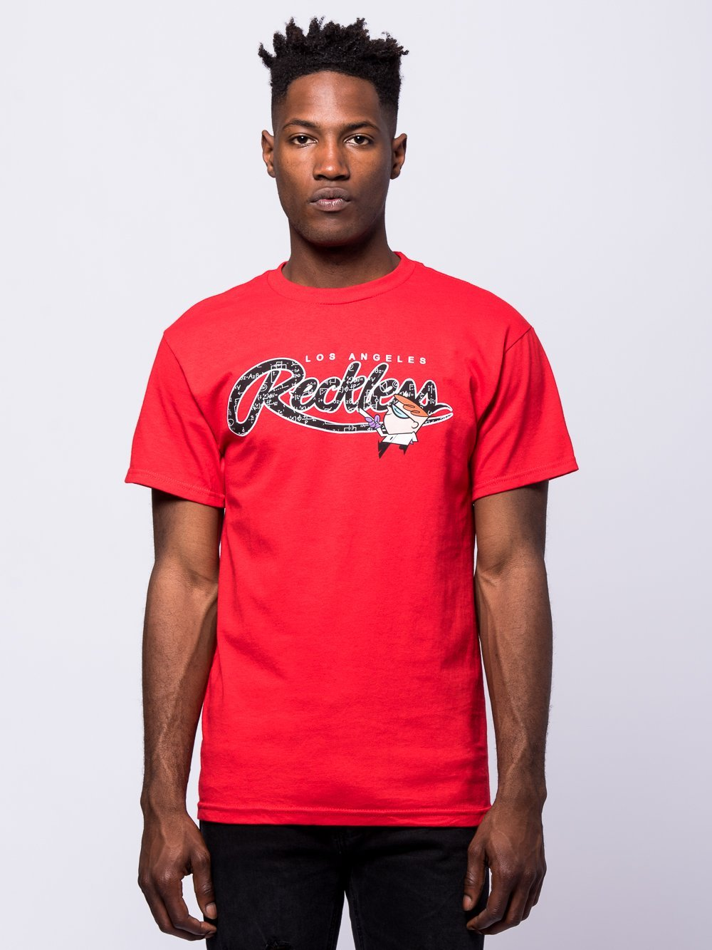 Young and Reckless Mens - Tees - Graphic Tee Calculations Tee - Red