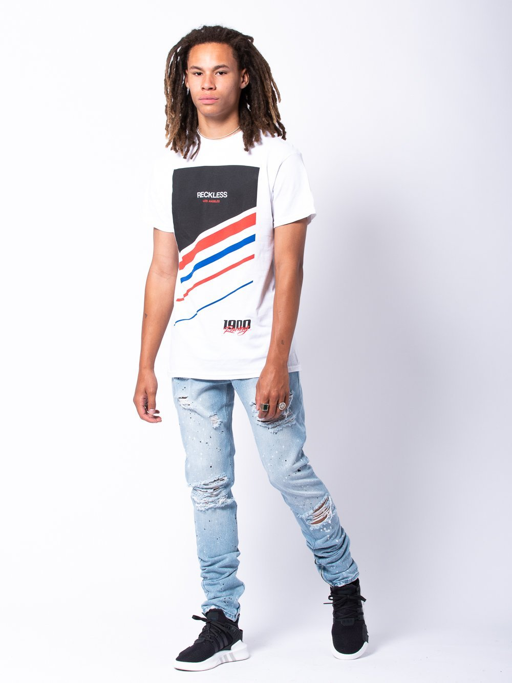 Young and Reckless Mens - Tees - Graphic Tee Camber Tee - White