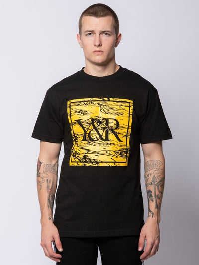 Young and Reckless Mens - Tees - Graphic Tee Caspian Tee - Black S / BLACK