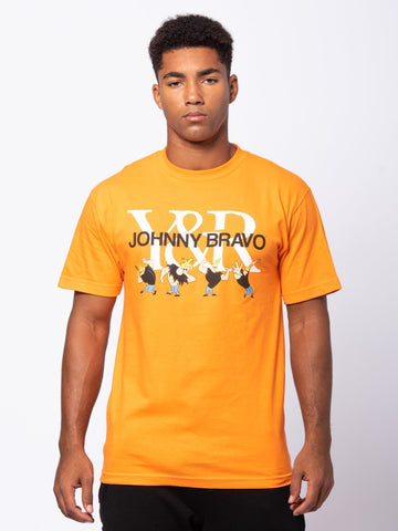 Young and Reckless Mens - Tees - Graphic Tee Charm Tee - Orange