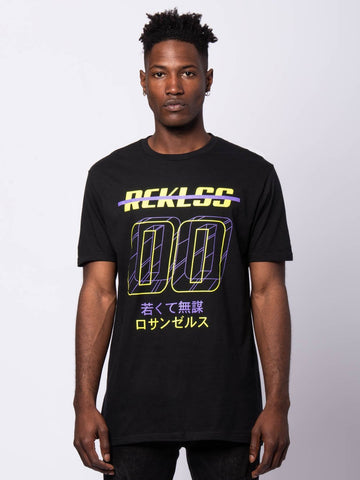 Young and Reckless Mens - Tees - Graphic Tee Chasis Tee - Black