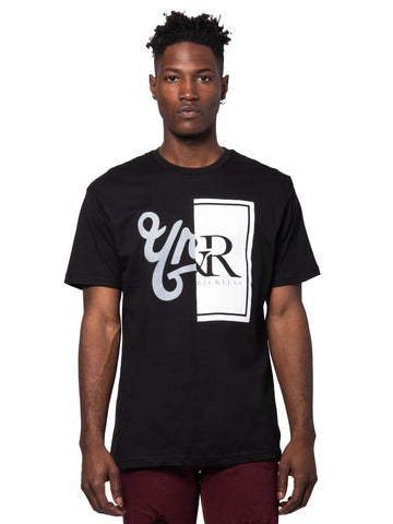 Young and Reckless Mens - Tees - Graphic Tee Chasm Tee - Black/White
