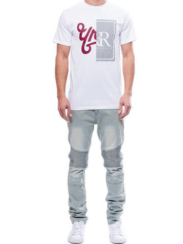 Young and Reckless Mens - Tees - Graphic Tee Chasm Tee- White
