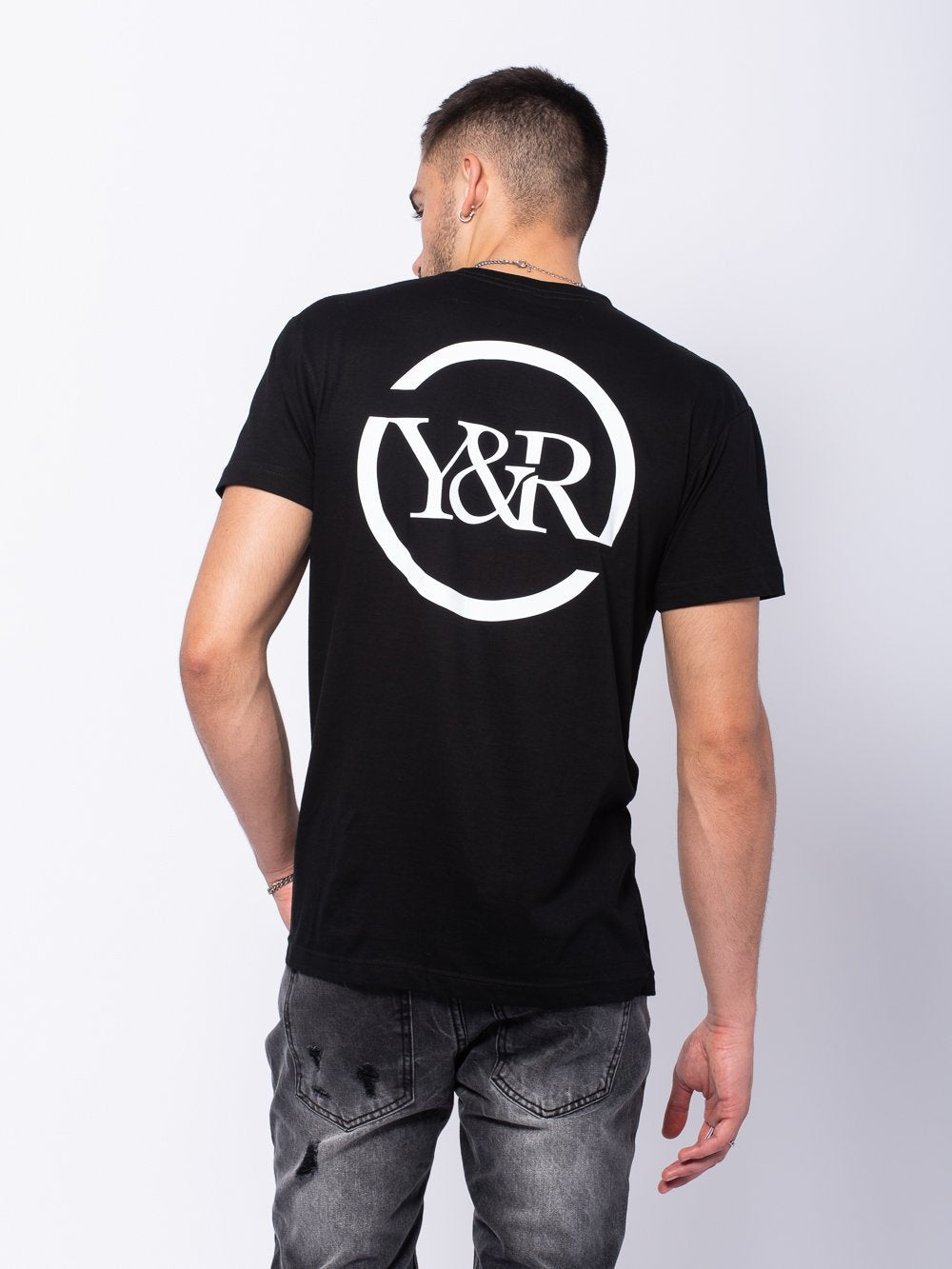 Young and Reckless Mens - Tees - Graphic Tee Circle Up Tee - Black