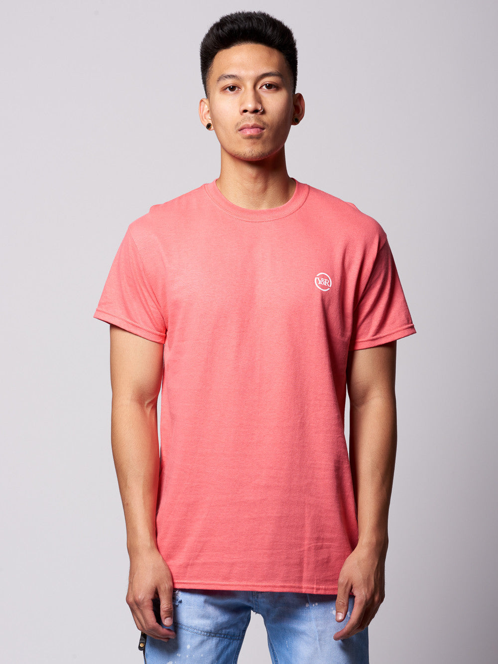 Young and Reckless Mens - Tees - Graphic Tee Circle Up Tee- Coral