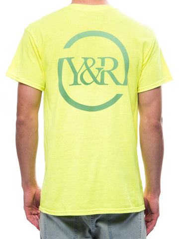 Circle Up Tee- Safety Green
