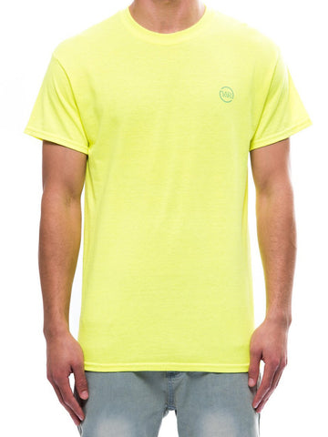 Young and Reckless Mens - Tees - Graphic Tee Circle Up Tee- Safety Green