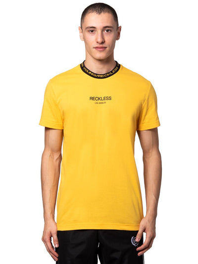 Young and Reckless Mens - Tees - Graphic Tee Classic Rib Tee - Gold