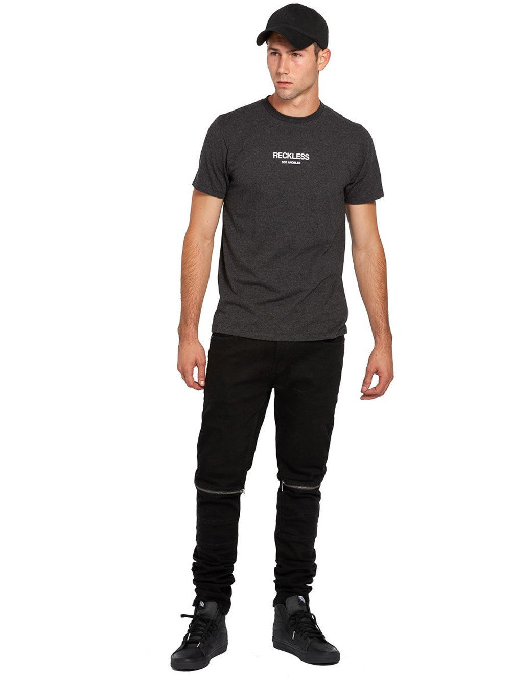 Young and Reckless Mens - Tees - Graphic Tee Classic Tee - Pepper Black