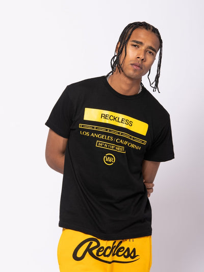 Young and Reckless Mens - Tees - Graphic Tee Classy II Tee - Black