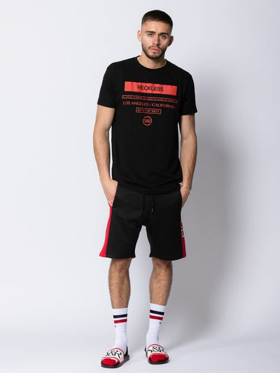 Young and Reckless Mens - Tees - Graphic Tee Classy Tee - Black/Red S / BLACK/RED