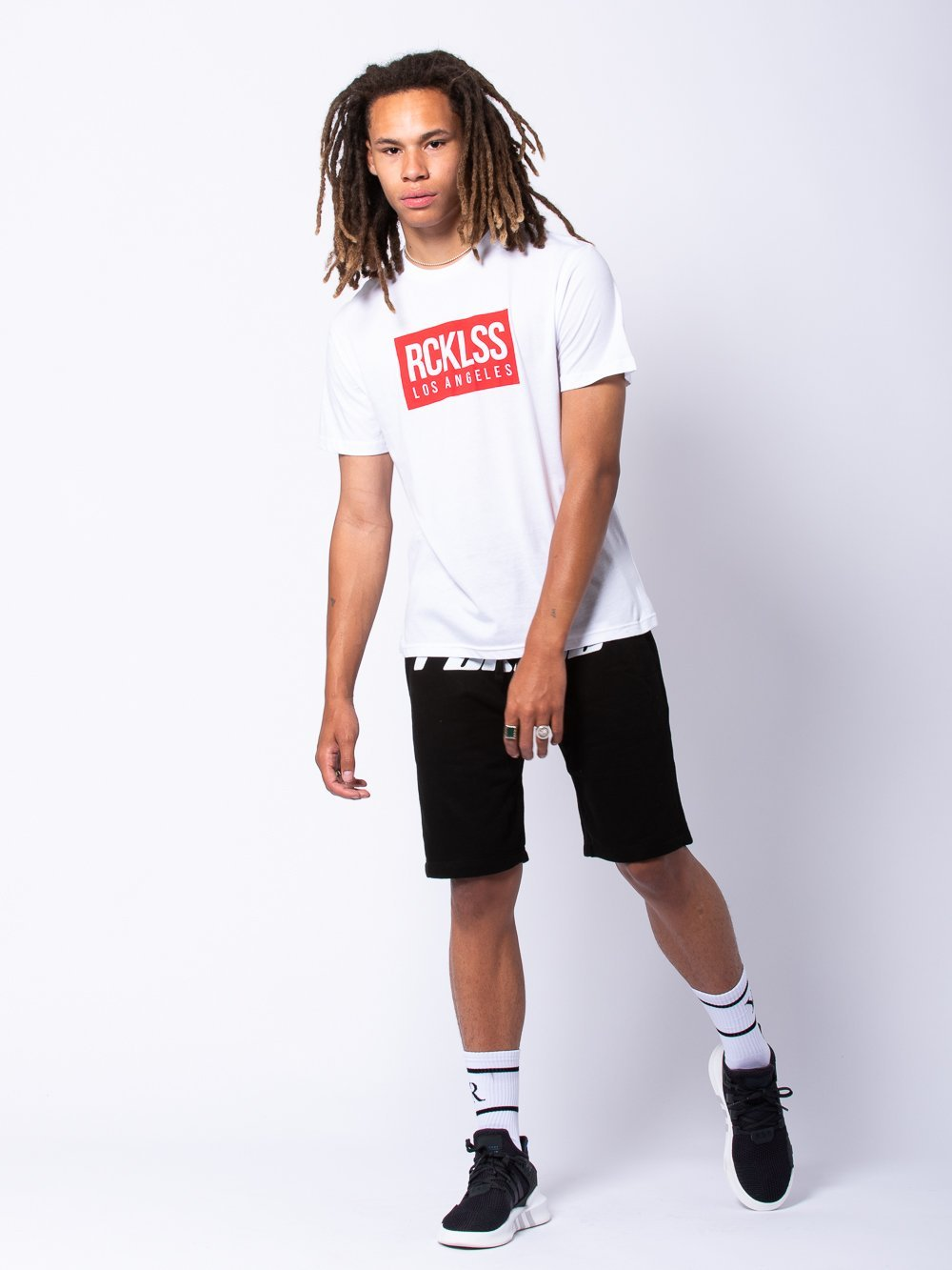 Young and Reckless Mens - Tees - Graphic Tee Concise Tee - White/Red