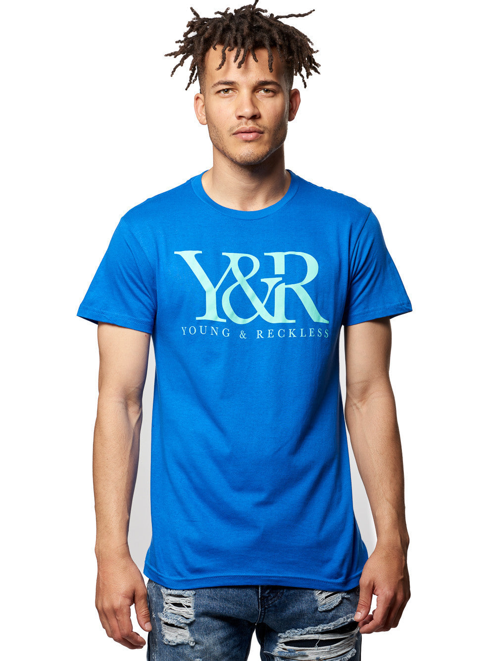 Young and Reckless Mens - Tees - Graphic Tee Core Logo Tee- Royal
