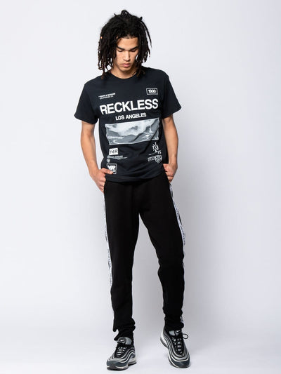 Young and Reckless Mens - Tees - Graphic Tee Crisis Tee - Black S / BLACK
